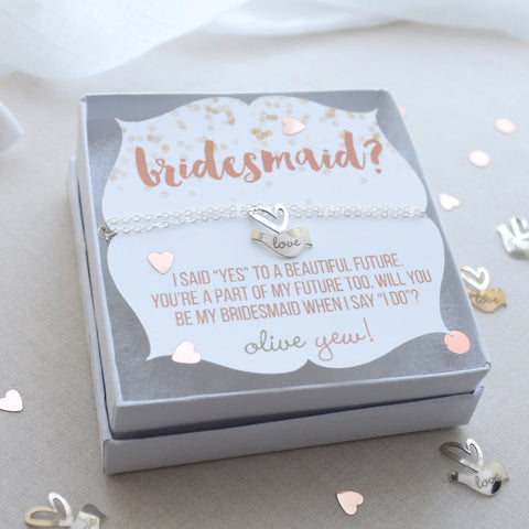 Be My Bridesmaid Gift Necklace