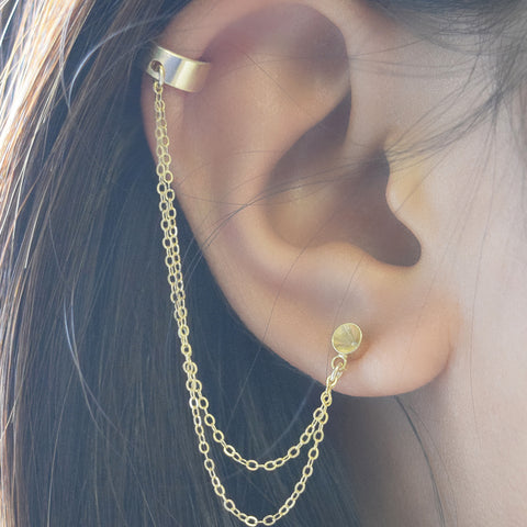 Double Chain Cuff Earring