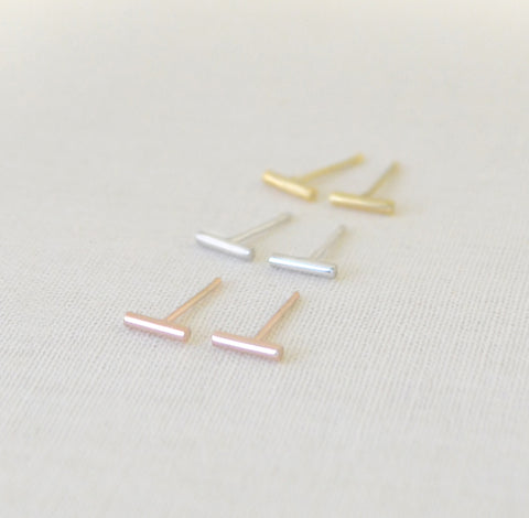 Tiny Bar Earrings