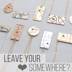 Map Necklace Giveaway Contest