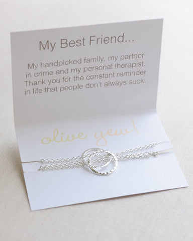 Foldover Best Friend card