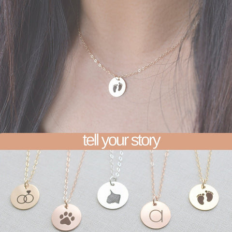 Engraved Icon Story Necklace