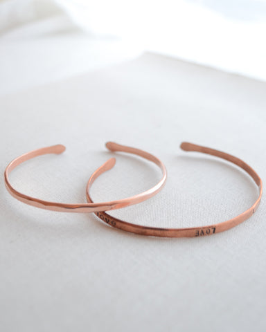 Tarnished Copper Bracelet