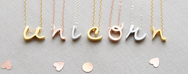Cursive Lowercase Letter Necklace
