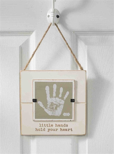 Little hands hold your heart paint and frame kit