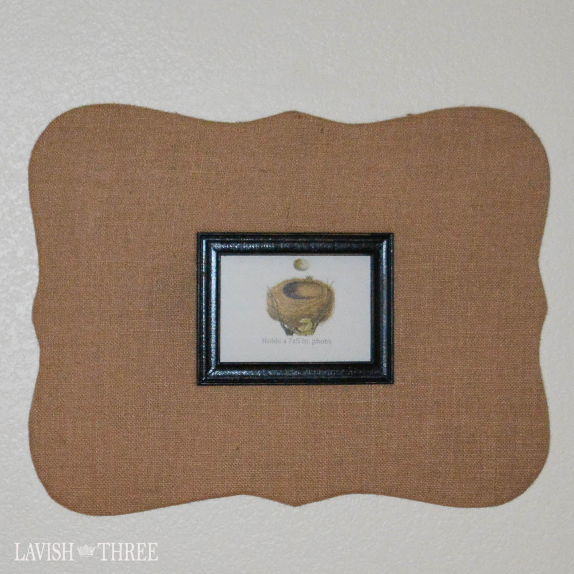 Cork board picture frame wall art decor