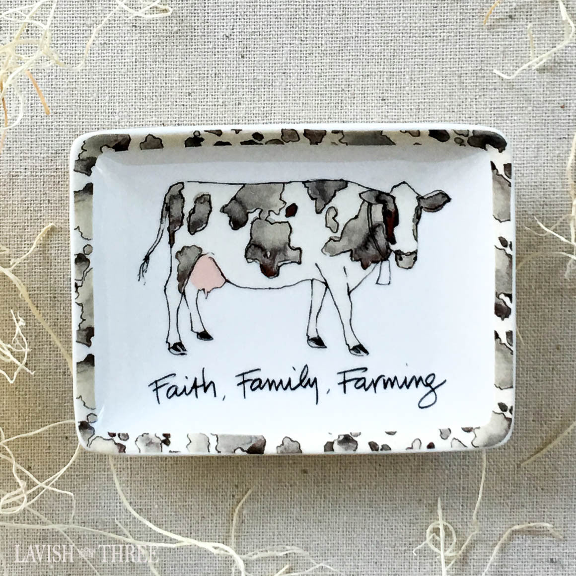 Faith, Family, Farming ~ mini stoneware plate set