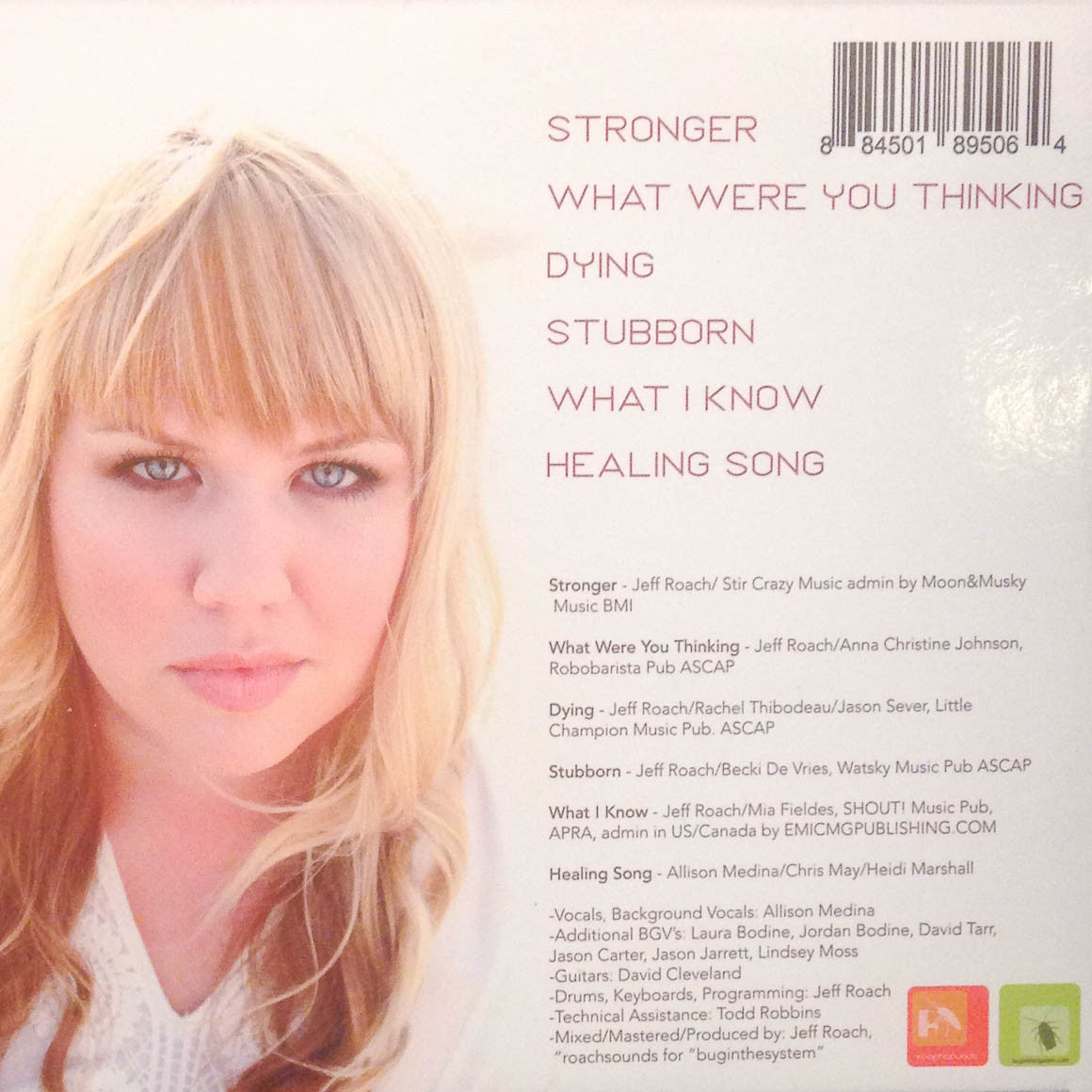 STRONGER cd songs and music by Allison Medina