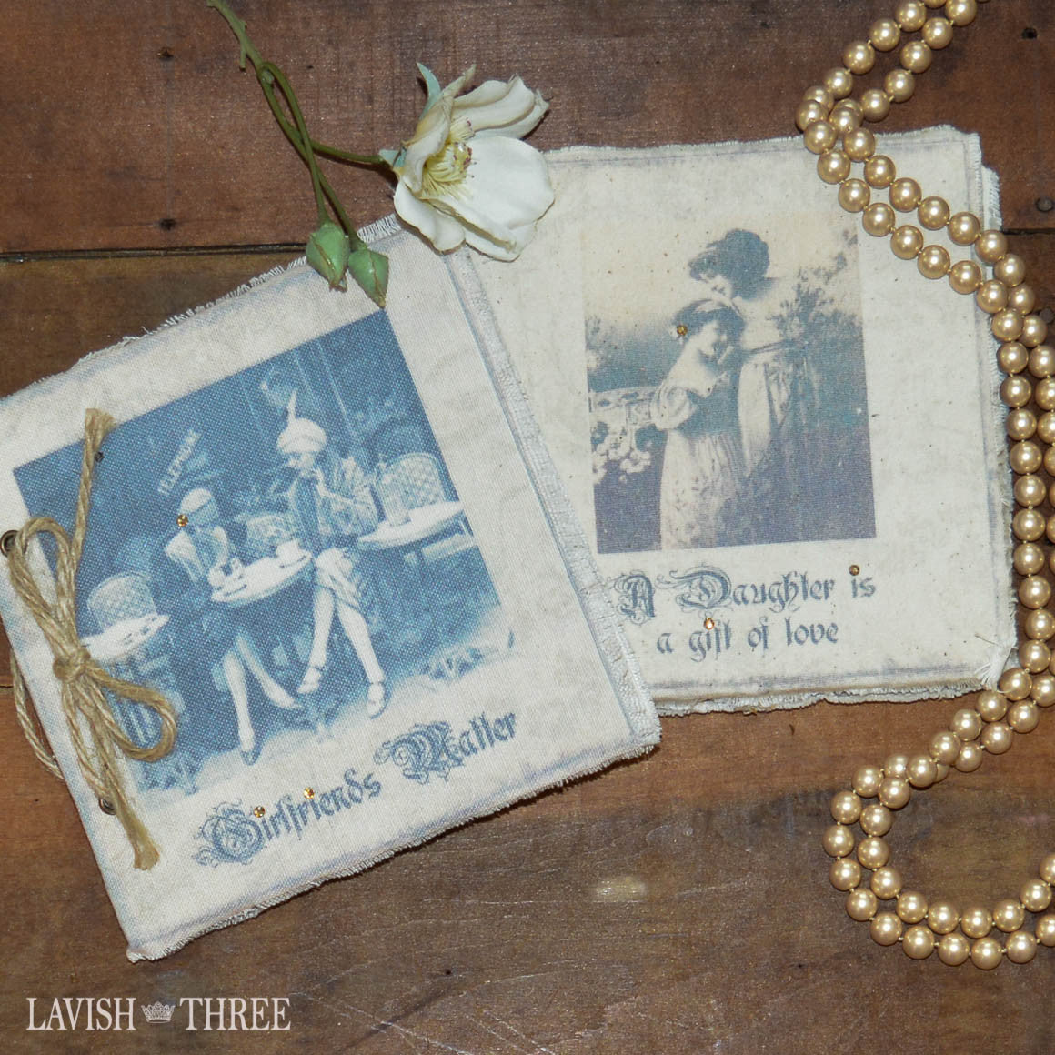 Parisian inspired journals; Girlfriends Matter and A Daughter is a Gift of Love.