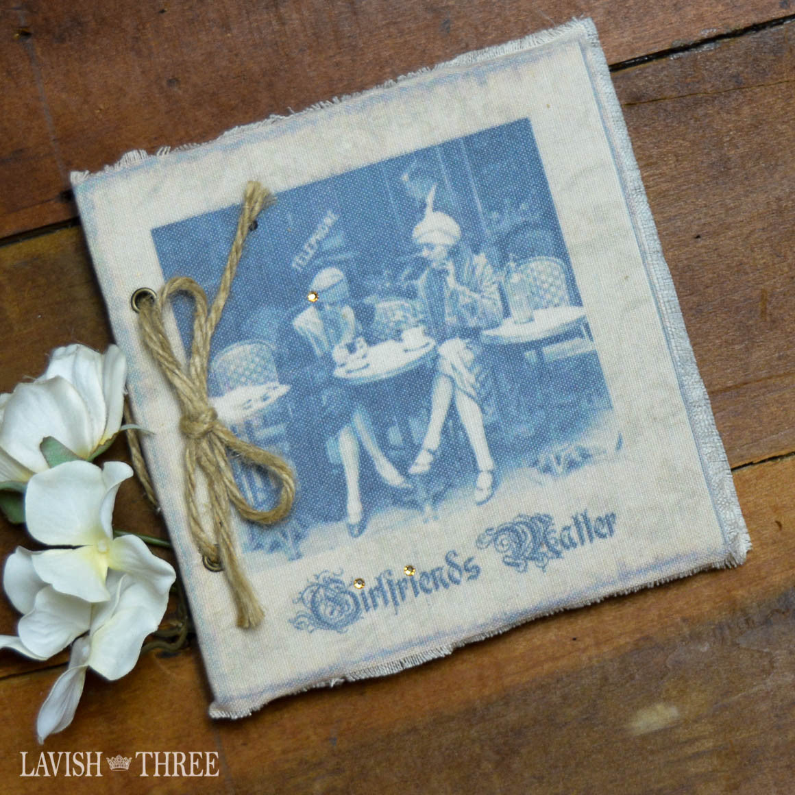 Parisian vintage fabric journal Girlfriends Matter