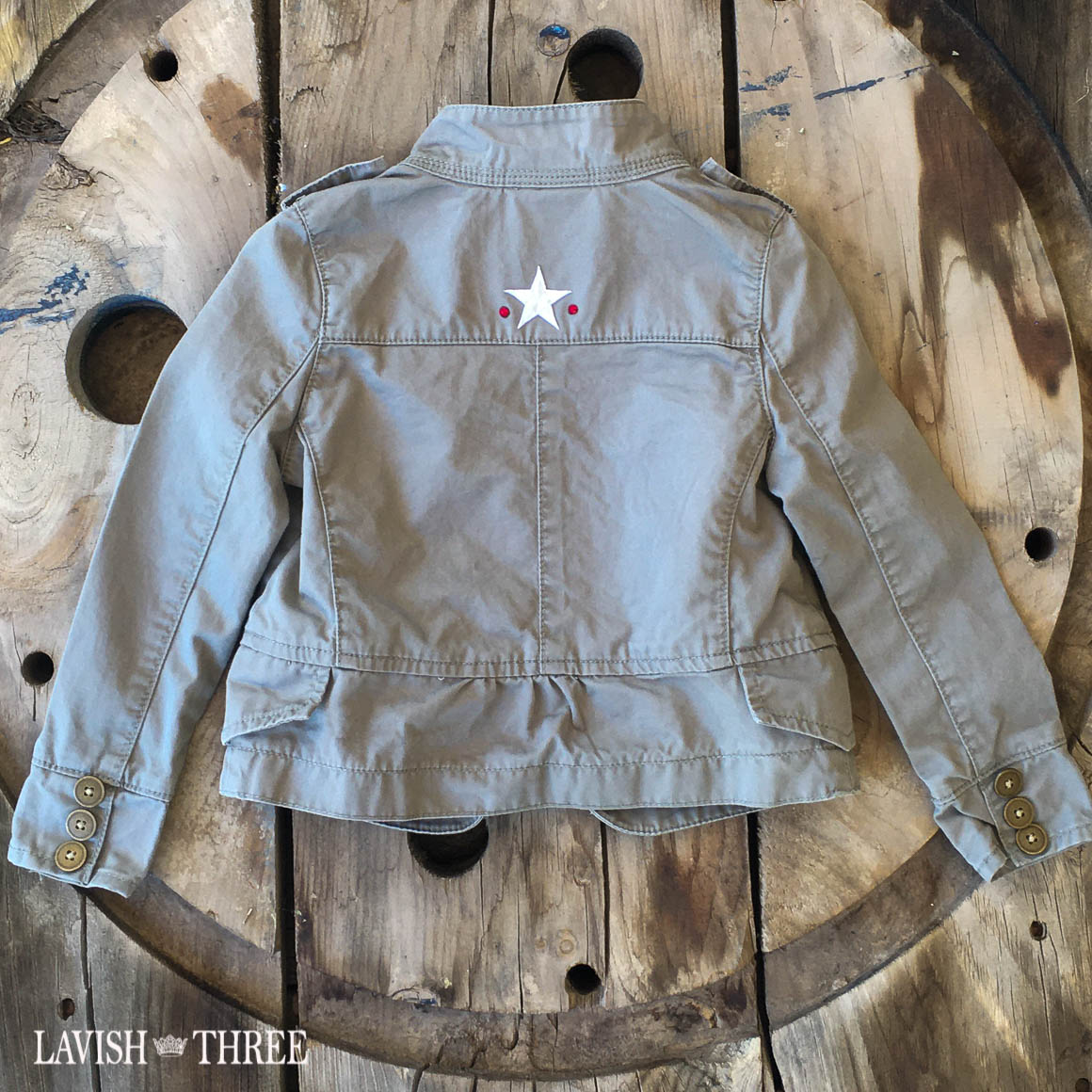 Military Jacket little girl lavish three 3
