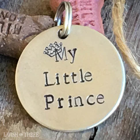 My little prince dog or cat pet tag in hand stamped nickel