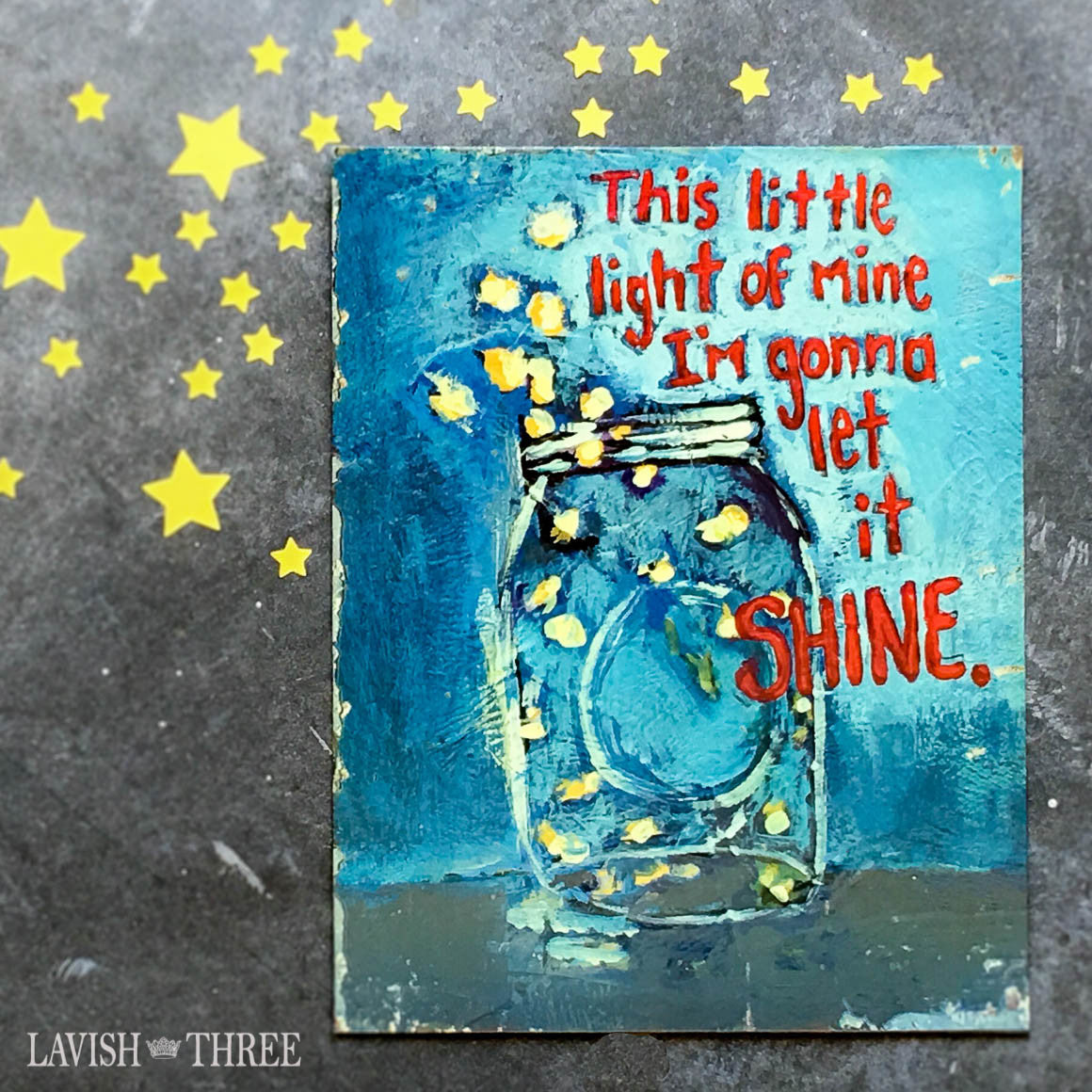 This little light of mine I'm going to let it shine tin wall art