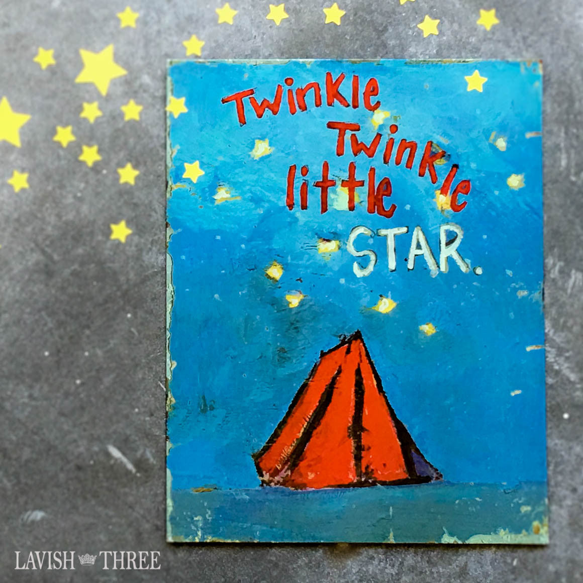 Twinkle twinkle little star tin wall art sign childs room nursery decor