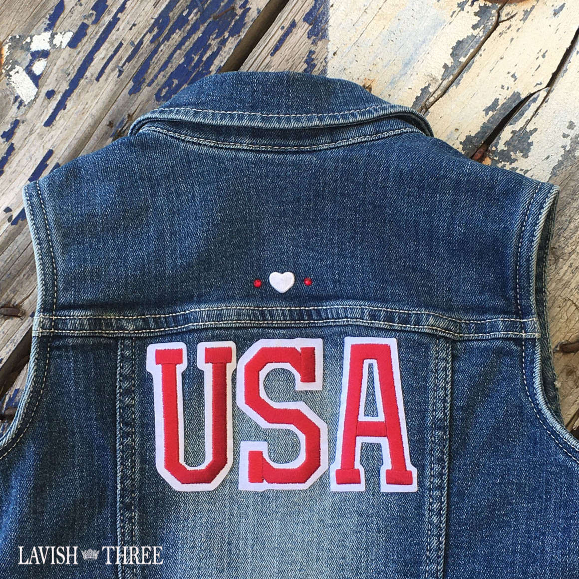 Denim USA vest girls american lavish three 3