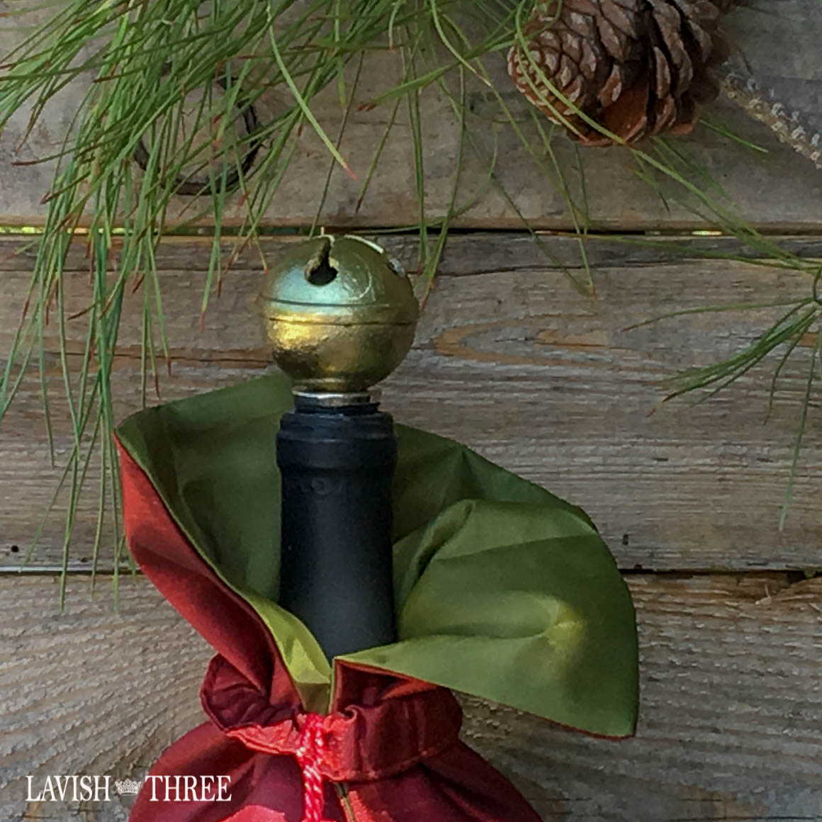 brass bell bottle stopper holiday gift Lavish Three 3