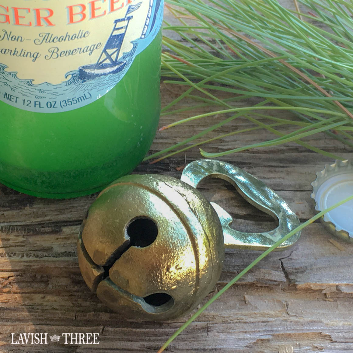 antique like brass bell bottle opener holiday gift Lavish three 3