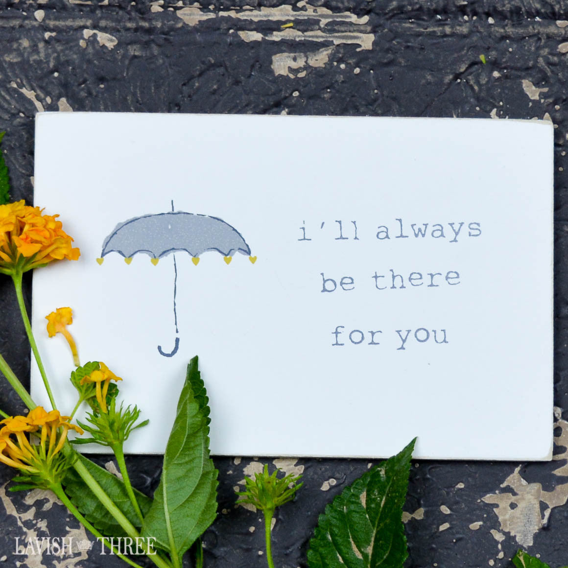 "Wood postcard ""i'll always be there for you"""