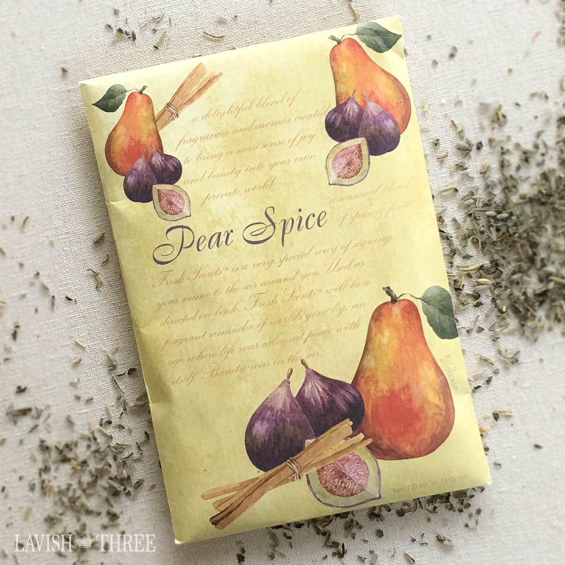Sachet Pear Spice Scent Lavish three 3
