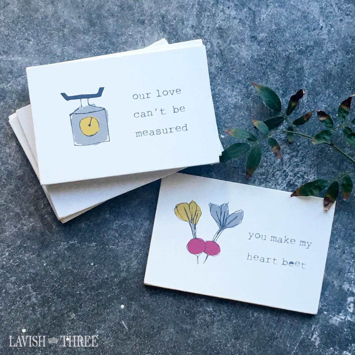 shabby chic painted illustrations on wood postcard with cute sayings