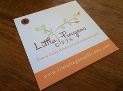"3"" Square Hang Tag - Custom Couture Label Company"