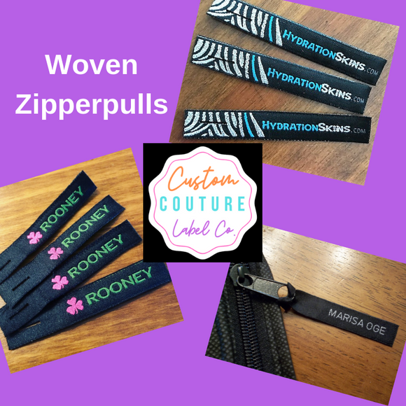 Woven Zipperpulls by Custom Couture Label Company