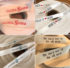 Cotton Printed Ribbon - Custom Couture Label Company