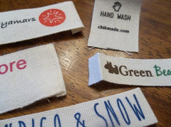 "Cotton Printed Labels .5"" - .75"" - 1"" Width - Custom Couture Label Company"