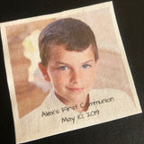 First Communion boys suit label by Custom Couture Label Co