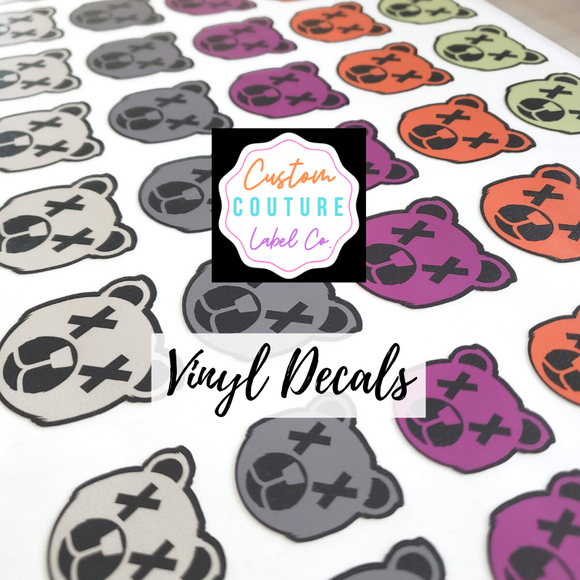vinyl decals by Custom Couture Label Co