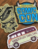 die cut woven iron on patches