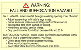 ASTM Sling Warning Labels, Soft Infant Carrier Labels, Fall And Suffocation Labels, CPSIA Labels - Custom Couture Label Company