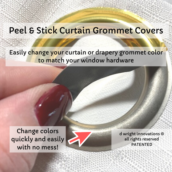 peel and stick grommet covers