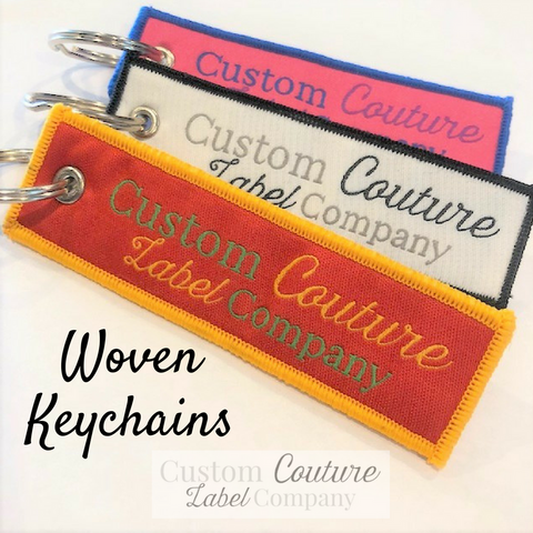 Custom Woven Key Chains - Custom Couture Label Company