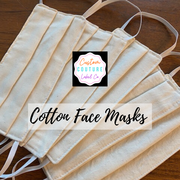 100% Cotton - 3 Layer Face Mask