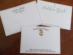 "4"" x 6"" Custom Postcards or Notecards - Custom Couture Label Company"