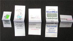 White Satin Screen Printed Labels - Sew On - Custom Couture Label Company