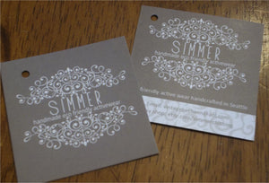 "2"" square custom hangtags"