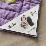 Custom Wedding Corner Quilt Label by Custom Couture Label Co