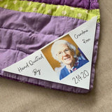 Heirloom photo quilt label