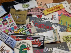 Woven Self Adhesive Labels - Custom Couture Label Company