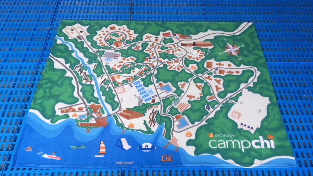 Camp Chi Map Blanket
