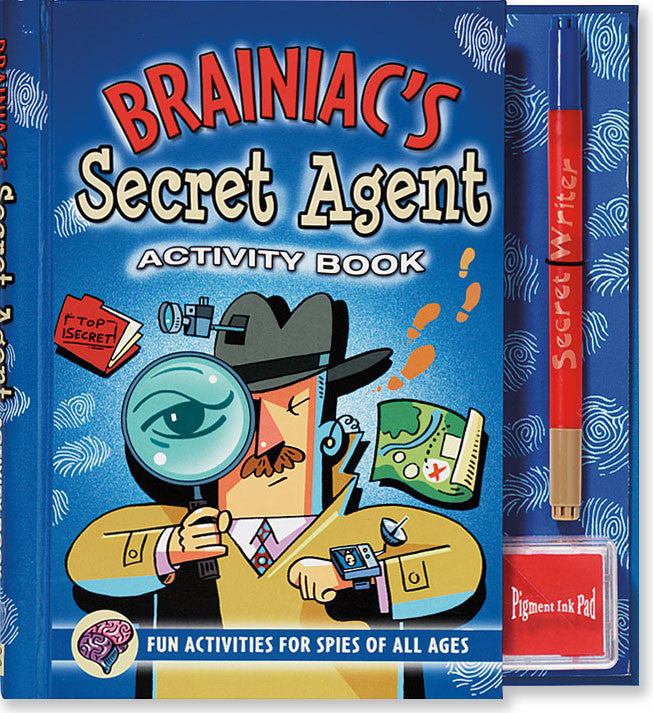 Brainiact's Secret Agent activity book
