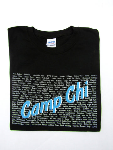 Camp Chi Word Shirt - Blue