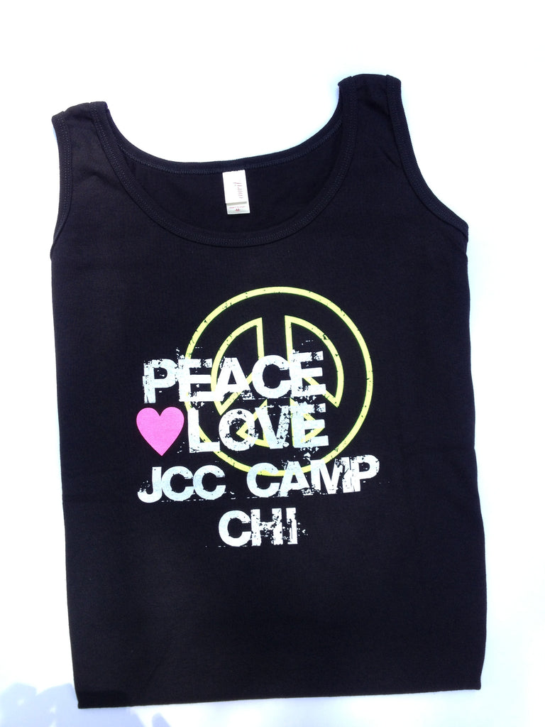 Black and Neon Woman's Tank Top