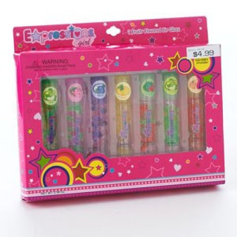 7 Piece Flavored Lip Gloss Set