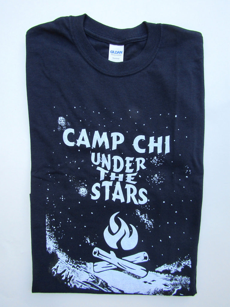 Glow In The Dark Camp Chi Under The Starts T-shirt