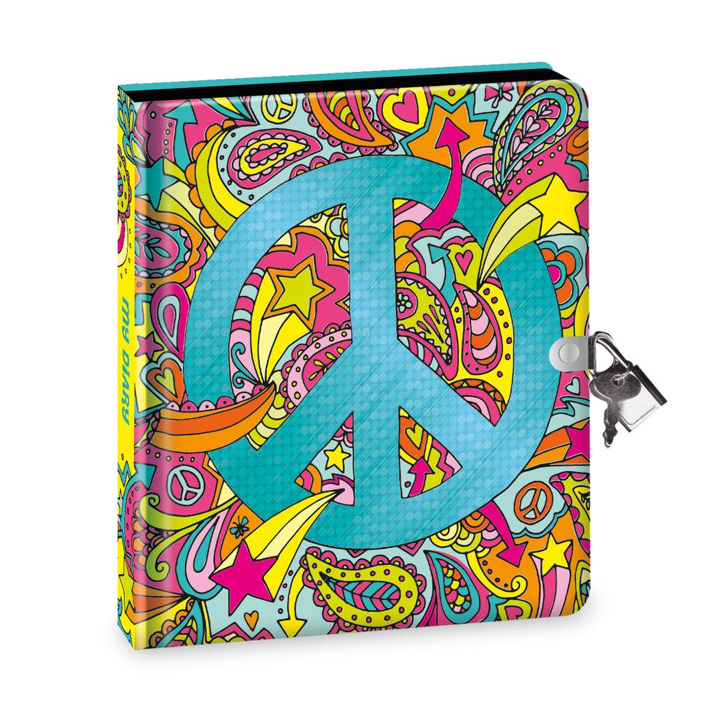 Peace Sign Black Page Diary