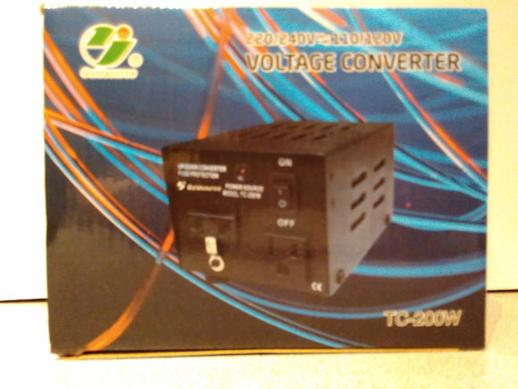 Voltage Up/Down Converter TC-200W (220/240V<=>110/120V)