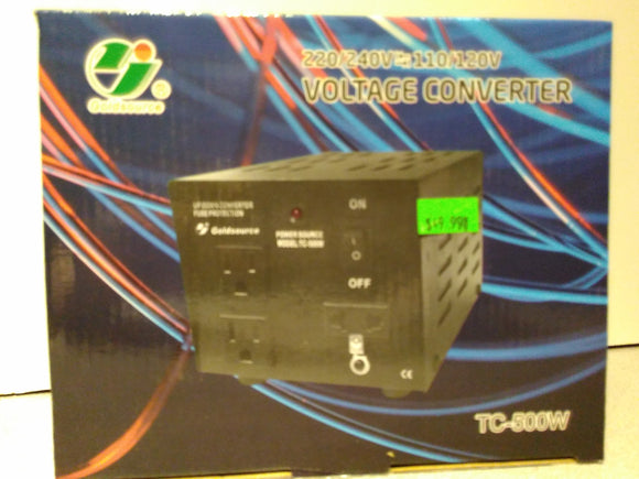 Voltage Up/Down Converter TC-500W (220/240V<=>110/120V)